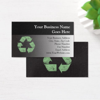 Vintage Grunge Recycle Symbol Business Card