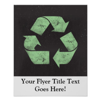 Vintage Grunge Recycle Symbol Flyer