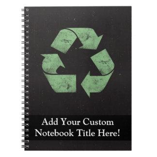 Vintage Grunge Recycle Symbol Notebook