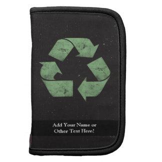 Vintage Grunge Recycle Symbol Folio Planners