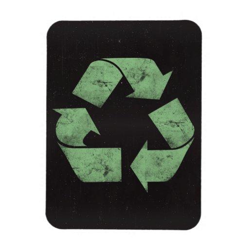 Vintage Grunge Recycle Symbol Rectangular Magnet