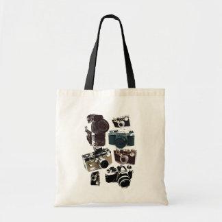 Vintage Grunge Retro Cameras Fashion Budget Tote Bag
