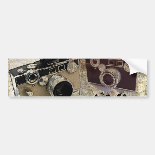 Vintage Grunge Retro Cameras Fashion Bumper Sticker