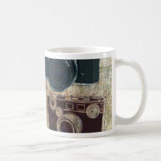 Vintage Grunge Retro Cameras Fashion Classic White Coffee Mug