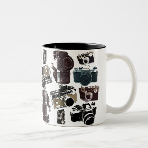 Vintage Grunge Retro Cameras Fashion Two-Tone Coffee Mug  Zazzle