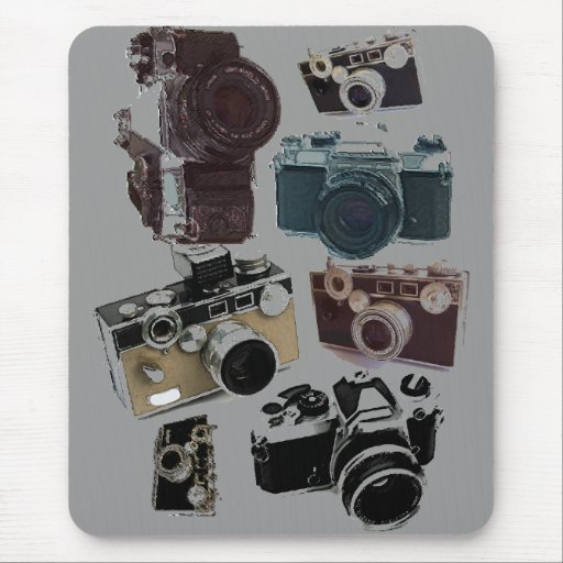 Vintage Grunge Retro Cameras Fashion Mouse Pad  Zazzle