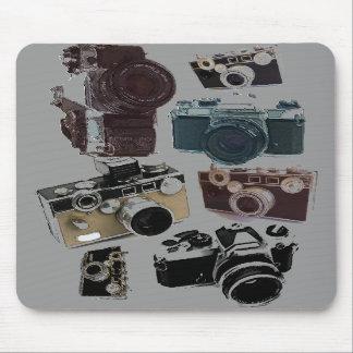 Vintage Grunge Retro Cameras Fashion Mousepad