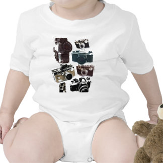Vintage Grunge Retro Cameras Fashion Tee Shirts