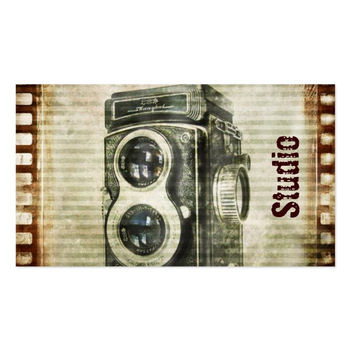 Vintage Grunge Retro Cameras film urban Business Card  Zazzle