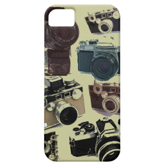 Vintage Grunge Retro Cameras Pattern iPhone 5 Covers