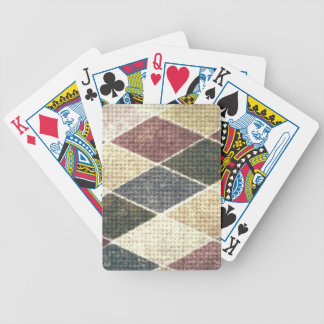 Vintage grunge retro checkers twill textile chic bicycle playing cards