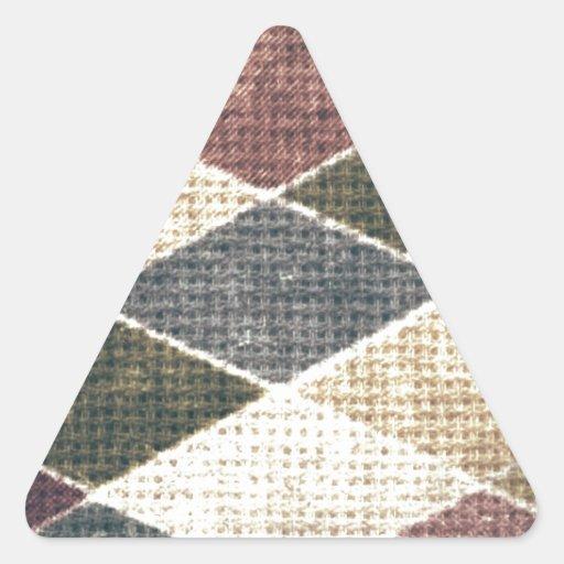 Vintage grunge retro checkers twill textile chic sticker