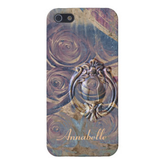 vintage grunge roses and keyhole case for iPhone SE/5/5s