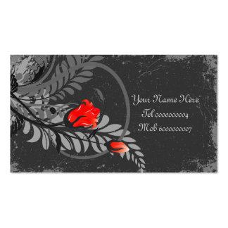 """Vintage Grunge Roses Business Cards 3.5"""" x 2"""""""