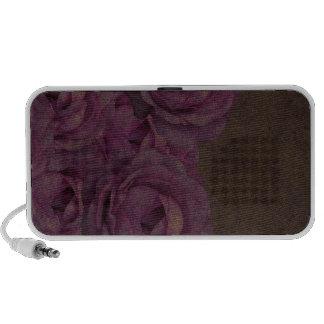 Vintage Grunge Roses iPod Speaker