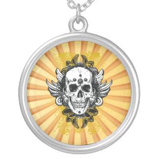 Vintage Grunge Skull Necklace