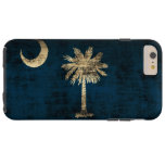 Vintage Grunge South Carolina Flag Tough iPhone 6 Plus Case