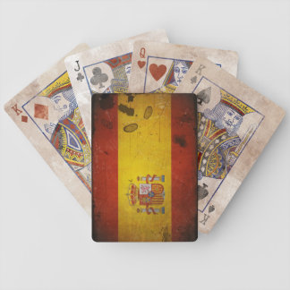 Vintage Grunge Spain Flag Bicycle Playing Cards