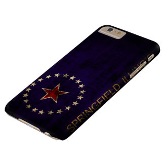 Vintage Grunge Springfield Illinois Flag Barely There iPhone 6 Plus Case