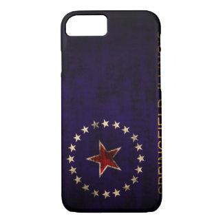 Vintage Grunge Springfield Illinois Flag iPhone 7 Case