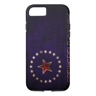 Vintage Grunge Springfield Illinois Flag iPhone 8/7 Case
