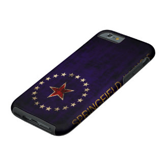 Vintage Grunge Springfield Illinois Flag Tough iPhone 6 Case