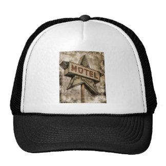 Vintage Grunge Star Motel Sign Hat