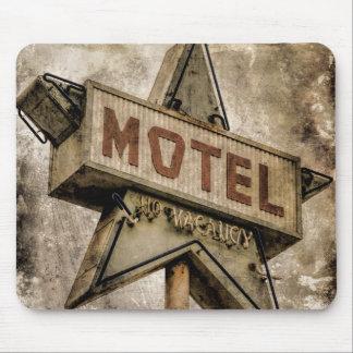 Vintage Grunge Star Motel Sign Mouse Pad