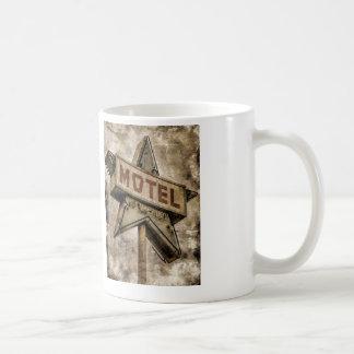 Vintage Grunge Star Motel Sign Mug