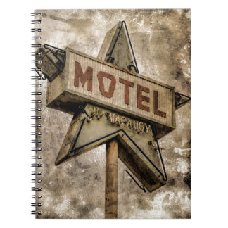 Vintage Grunge Star Motel Sign Note Book