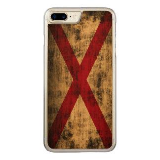 Vintage Grunge State Flag of Alabama Carved iPhone 8 Plus/7 Plus Case