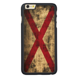 Vintage Grunge State Flag of Alabama Carved® Maple iPhone 6 Plus Case