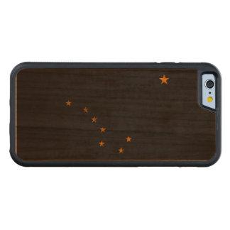 Vintage Grunge State Flag of Alaska Carved® Cherry iPhone 6 Bumper Case