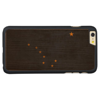 Vintage Grunge State Flag of Alaska Carved Cherry iPhone 6 Plus Slim Case
