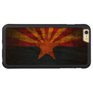 Vintage Grunge State Flag of Arizona Carved® Cherry iPhone 6 Plus Bumper Case