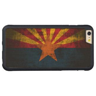 Vintage Grunge State Flag of Arizona Carved® Maple iPhone 6 Plus Bumper