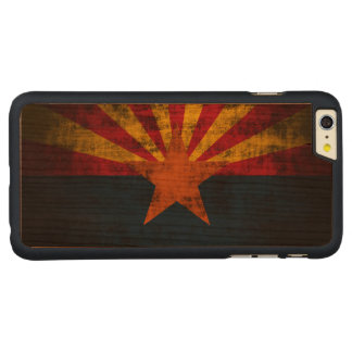 Vintage Grunge State Flag of Arizona Carved® Cherry iPhone 6 Plus Case
