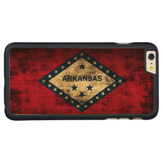 Vintage Grunge State Flag of Arkansas Carved Maple iPhone 6 Plus Case