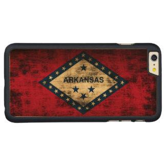 Vintage Grunge State Flag of Arkansas Carved® Maple iPhone 6 Plus Case