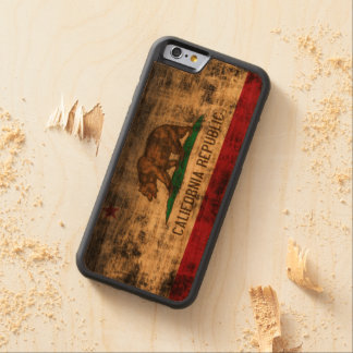 Vintage Grunge State Flag of California Republic Carved® Cherry iPhone 6 Bumper