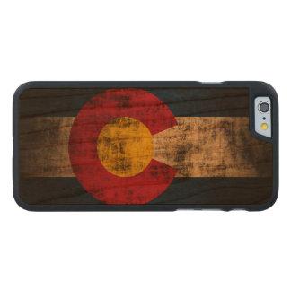 Vintage Grunge State Flag of Colorado Carved® Cherry iPhone 6 Slim Case