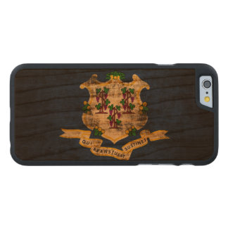 Vintage Grunge State Flag of Connecticut Carved Cherry iPhone 6 Slim Case