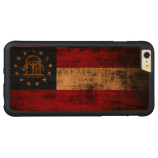 Vintage Grunge State Flag of Georgia Carved® Cherry iPhone 6 Plus Bumper
