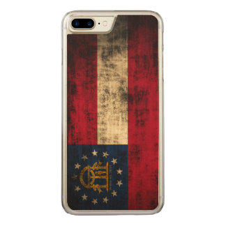 Vintage Grunge State Flag of Georgia Carved iPhone 7 Plus Case