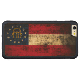 Vintage Grunge State Flag of Georgia Carved® Maple iPhone 6 Plus Bumper Case