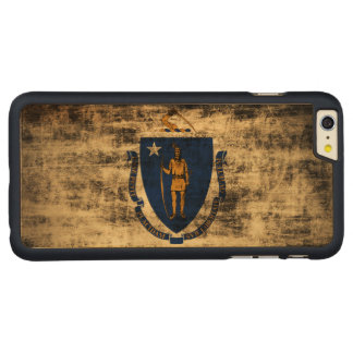Vintage Grunge State Flag of Massachusetts Carved® Maple iPhone 6 Plus Slim Case