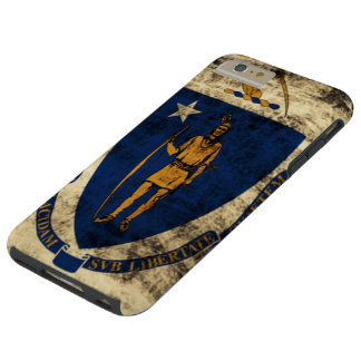 Vintage Grunge State Flag of Massachusetts Tough iPhone 6 Plus Case