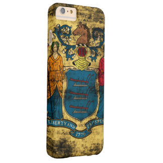 Vintage Grunge State Flag of New Jersey Barely There iPhone 6 Plus Case