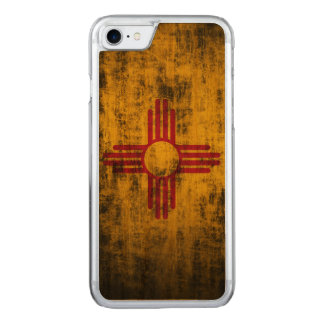 Vintage Grunge State Flag of New Mexico Carved iPhone 7 Case