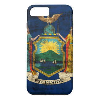 Vintage Grunge State Flag of New York iPhone 7 Plus Case